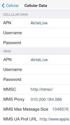 Airtel Sri Lanka GPRS Settings for iPhone