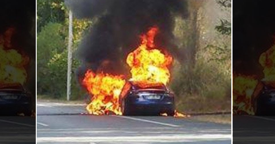 Tesla Model S Catches Fire During Test Drive In France ...