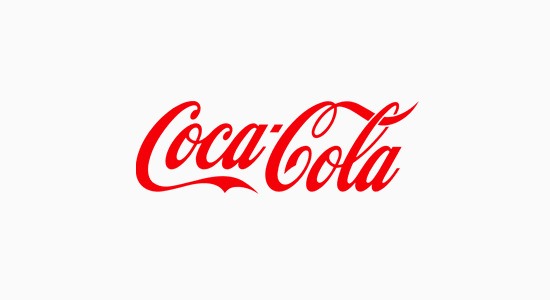 Coca Cola's notorious logo is an exemplary case of a Wordmark logo