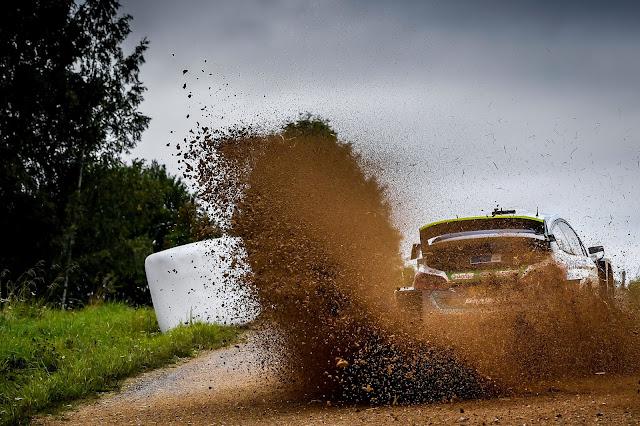 Fiesta WRC drifting sideways