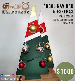 Árbol navideño decorativo 48x22cms