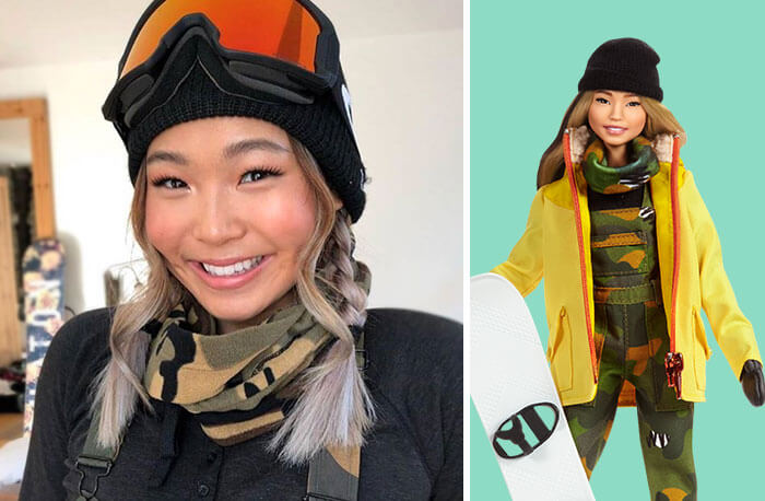 Barbie Introduces 17 New Dolls Based On Inspirational Women Such As Frida Kahlo And Amelia Earhart - Chloe Kim, Snowboarding Champion
