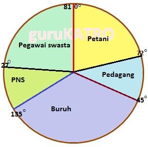 Membuat diagram lingkaran gurukatro 5 bila langkah dari 1 sampai 4 diatas dilakukan dengan benar pasti sisanya tinggal 81 derajat 81 derajat itulah yang dibuat untuk jenis pekerjaan pegawai ccuart Images