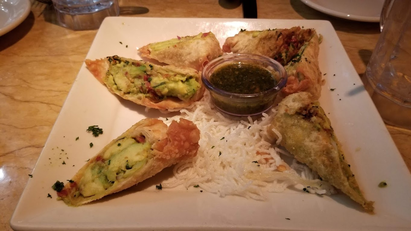 Avocado egg rolls at The Cheesecake Factory