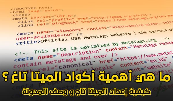 أهمية أكواد الميتا تاغ و كيفية إعداد الميتا تاج و وصف المدونة لتصدر نتائج البحث