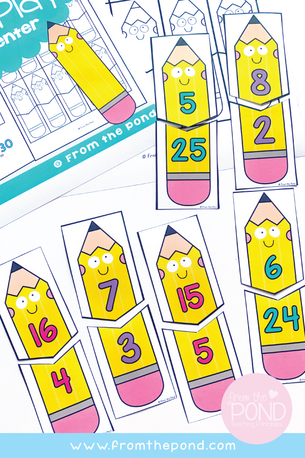 Cute Pencils Back to School Math Game
