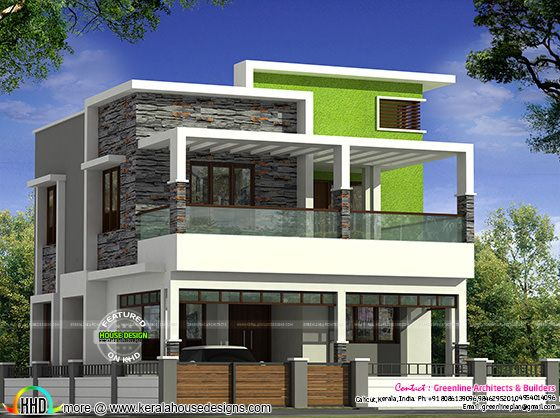 40x60 Kerala contemporary home design