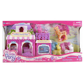 MLP Star Swirl Playsets Cotton Candy Cafe Bonus G3 Pony