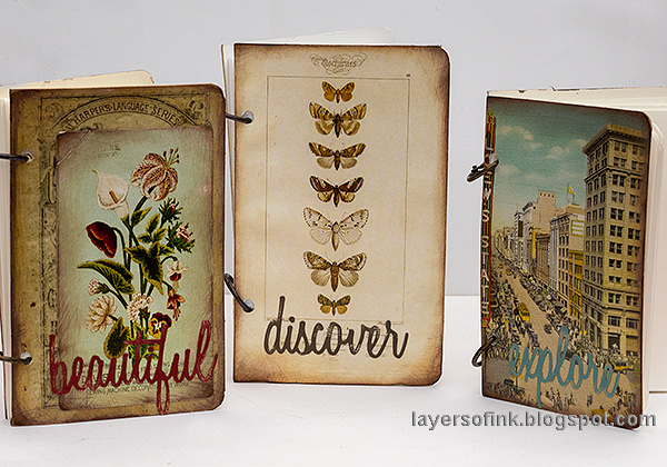 Layers of ink - Quick DIY Notebooks Tutorial by Anna-Karin Evaldsson.