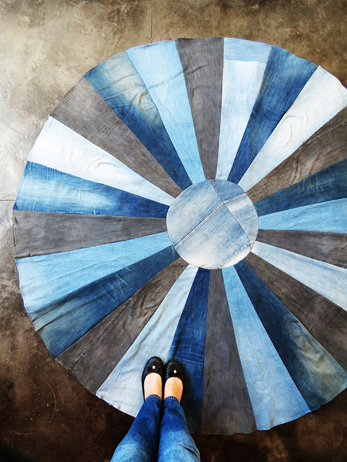 Diy Rug With Old Denims Ohoh Deco