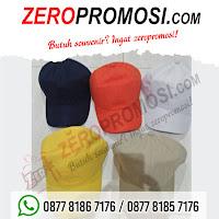 Produksi Topi promosi bahan twill, Souvenir Keren Topi Twill, konveksi topi di tangerang