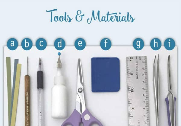 quilling tools and materials