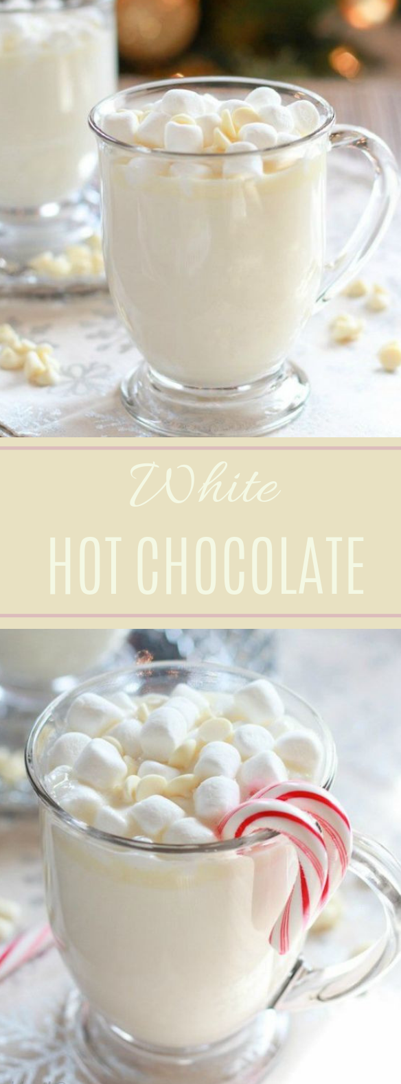 Homemade White Hot Chocolate #warmdrink #easy