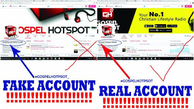 Scam Alert!! Gospel Hotspot FAKE Site & Accounts Has Been Launched