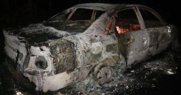 Konslet, Sedan Audi Full Modif Ludes Terbakar di Tlogowungu Pati