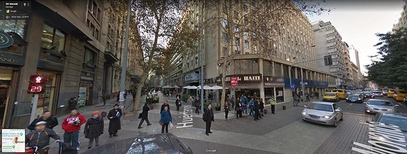Mapa de Santiago no Google Maps: 5 hotéis na capital do Chile
