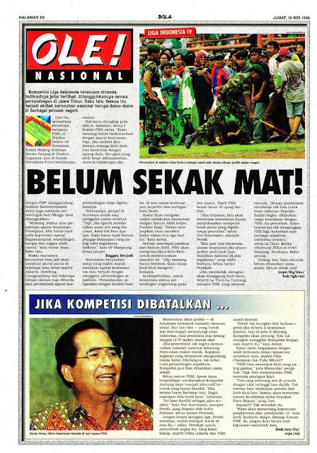 LIGA INDONESIA IV BELUM SEKAK MAT
