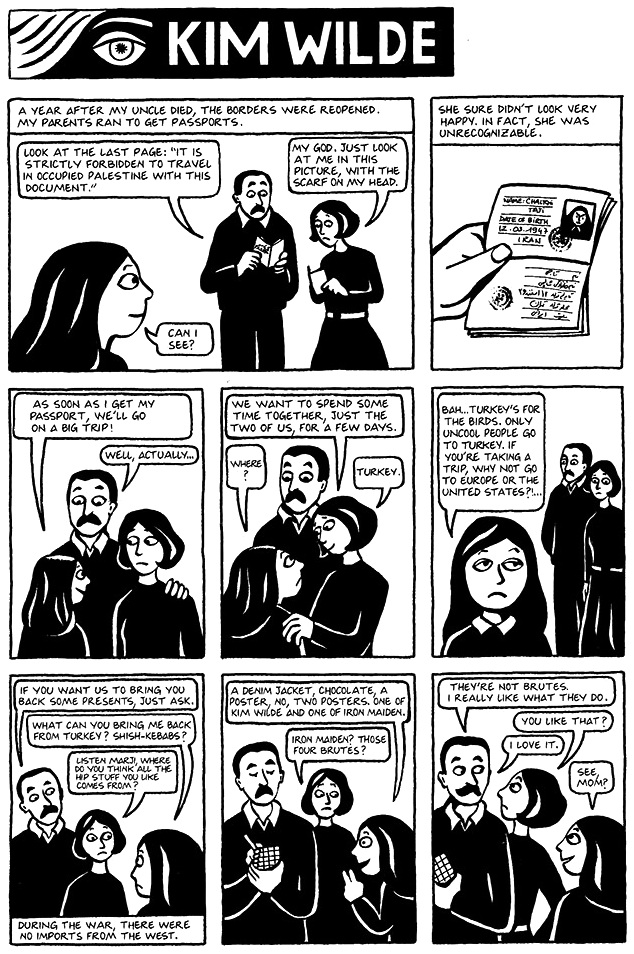 Read Chapter 17 - Kim Wilde, page 124, from Marjane Satrapi's Persepolis 1 - The Story of a Childhood