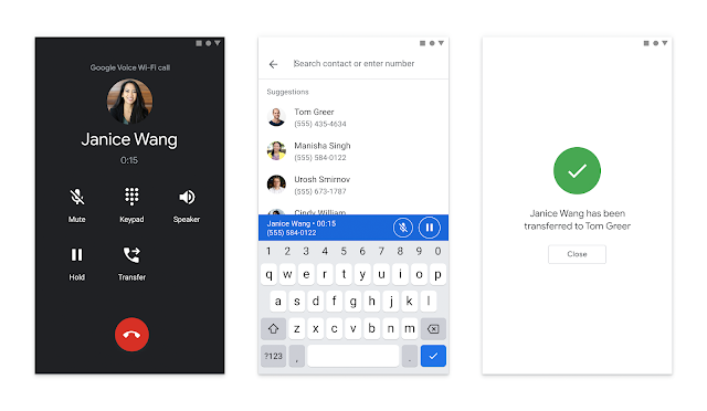 Google Voice Improvements: Use in Gmail and transfer calls 2