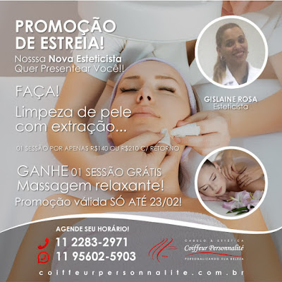 promocao-limpeza-pele-extracao-massagem-relaxante-gratis-estetica-zona-norte