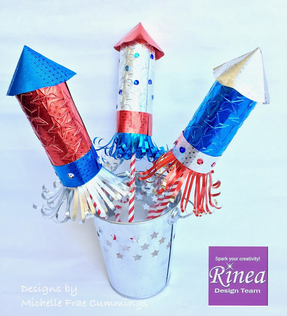 4th of July Decorations with Rinea Foiled Paper
