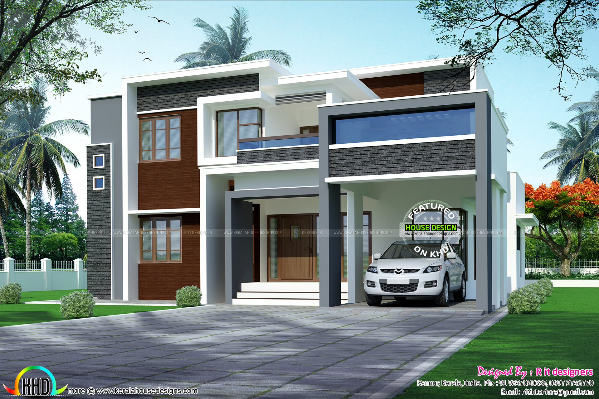 3088 sq ft 4 bedroom box type home kerala home design for Types of house designs