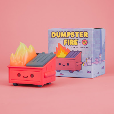 FYE First Release Exclusive Dumpster Fire Sunburn Red Edition Vinyl Figure by 100% Soft