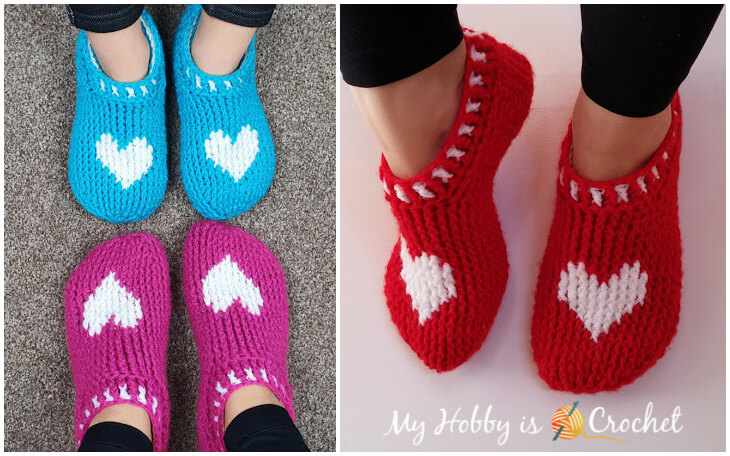 Heart and Sole Slippers Crochet Tutorial