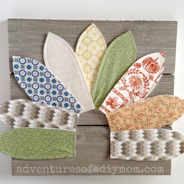 assembling the fabric turkey craft