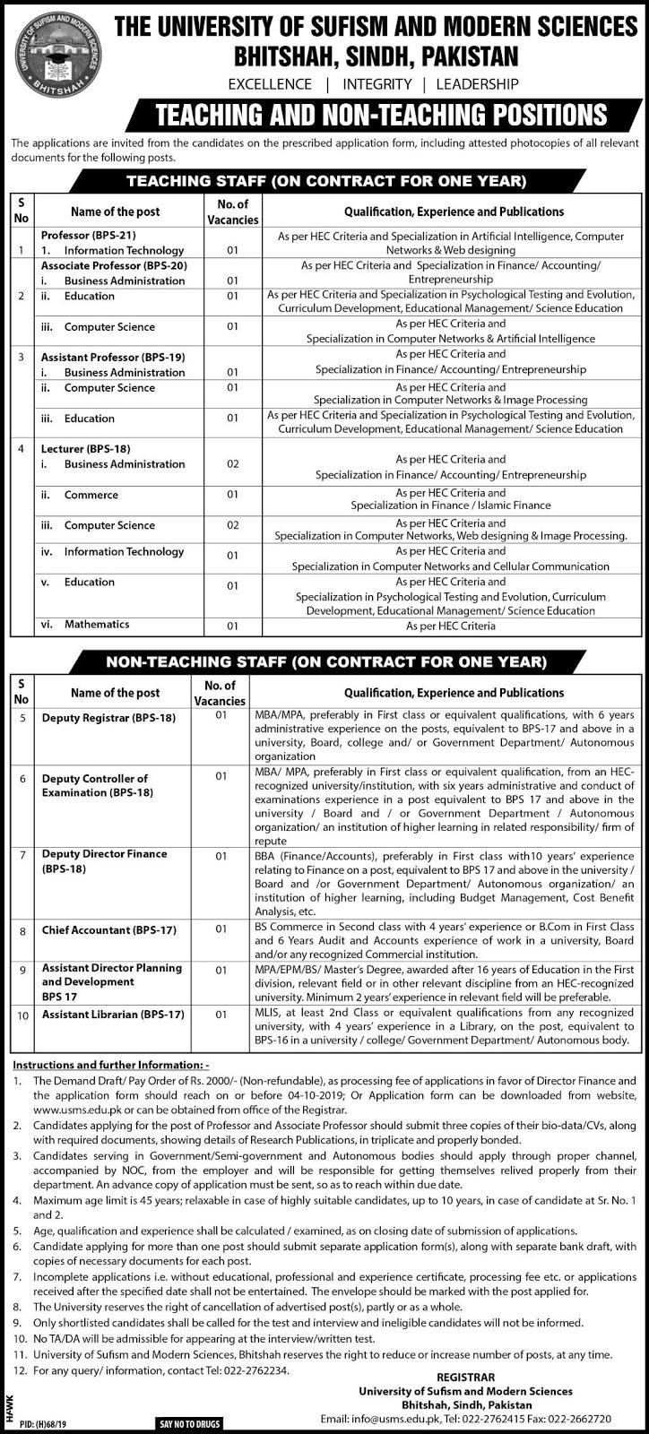 Advertisement for USMS Jobs September 2019