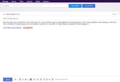 Menyisipkan tautan atau beberapa Link didalam pesan email sering kali dilakukan Cara Menyisipkan Tautan Di Email Yahoo