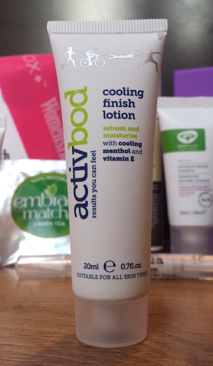 Activbod Cooling Finish Lotion - Birchbox and Women's Health January 2015 box