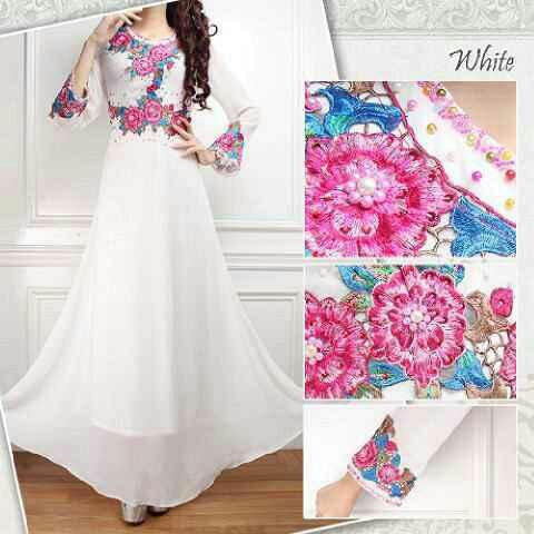 Ayuatariolshop distributor supplier tangan pertama Baju gamis kaftan putih