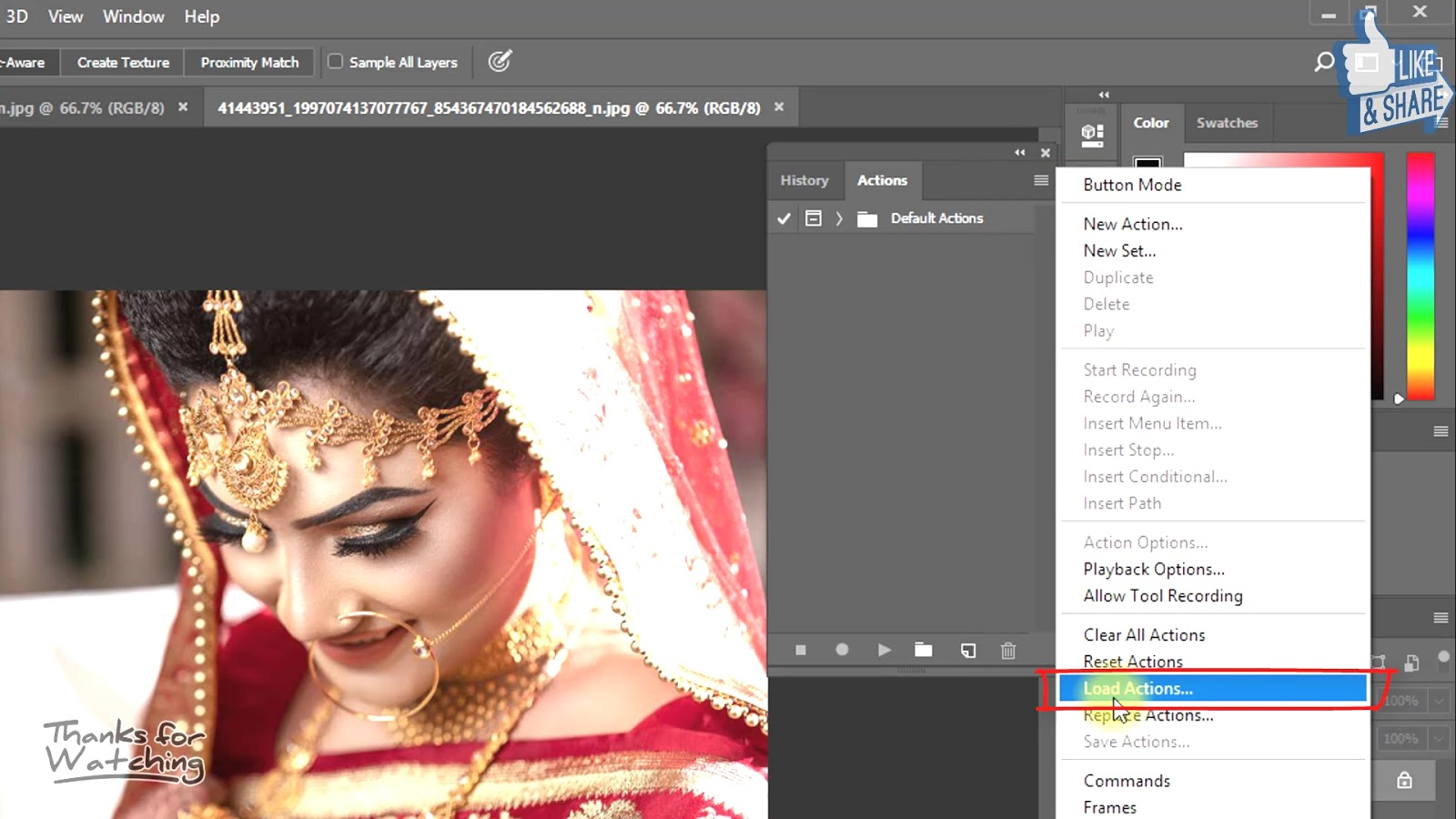 1-Click Automatic Vintage Wedding Effects Photoshop Actions Download 1