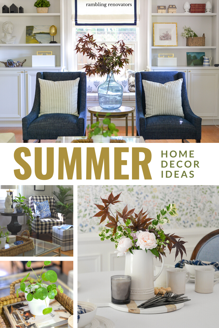 summer home decor, summer decorating ideas, summer living room