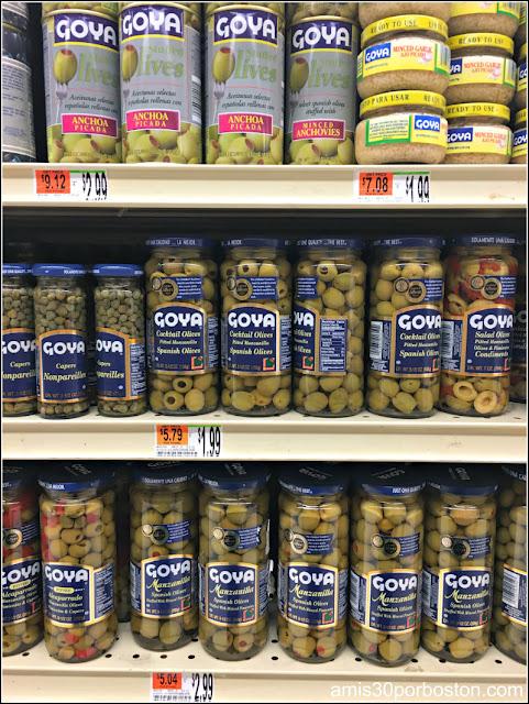 Aceitunas Españolas en los Comercios de Massachusetts