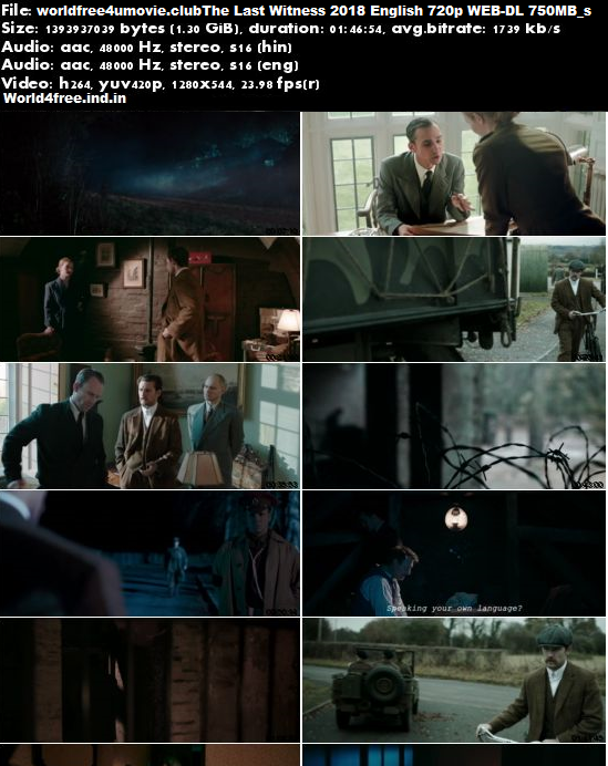 Screen Shoots Of The Last Witness 2018 Full English 720p WEB-DL 750MB
