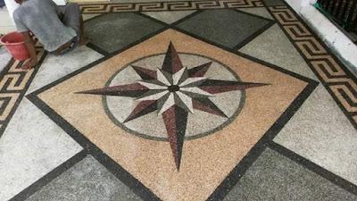 Desain Motif Batu Sikat Bintang