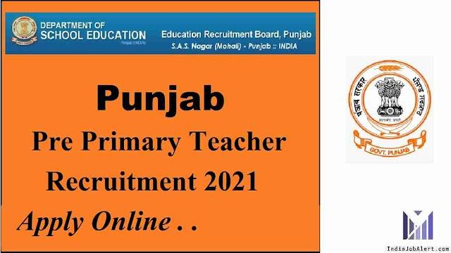 Punjab Pre Primary teacher online form