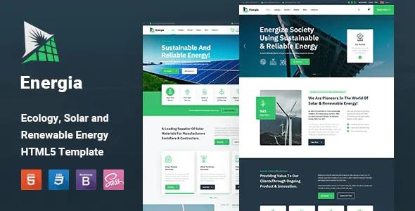 Best Renewable Energy HTML5 Template