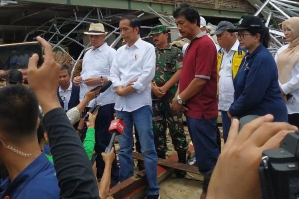 Besok, Jokowi Bakal Kunjungi Lokasi dan Korban Tsunami di Lamsel