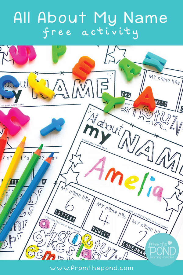 All About My Name Activities