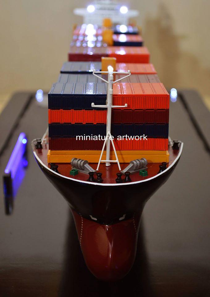 foto gambar miniatur kapal mv sam ratulangi pb 1600 pt djakarta lloyd planet kapal rumpun artwork terbaru