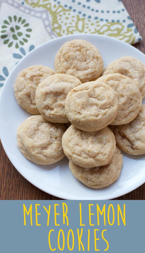 Meyer Lemon Cookies || A Less Processed Life