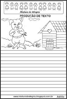 Produção de texto os três porquinhos