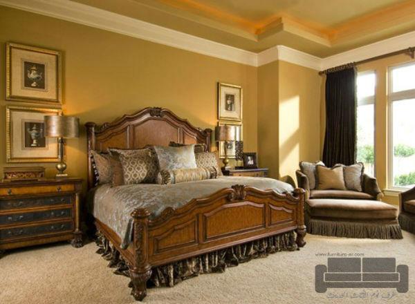 غرف نوم تركية كاملة 2016,غرفة نوم تركية كاملة للبيع, صناعة مصرية, غرفة نوم كلاسيك بني