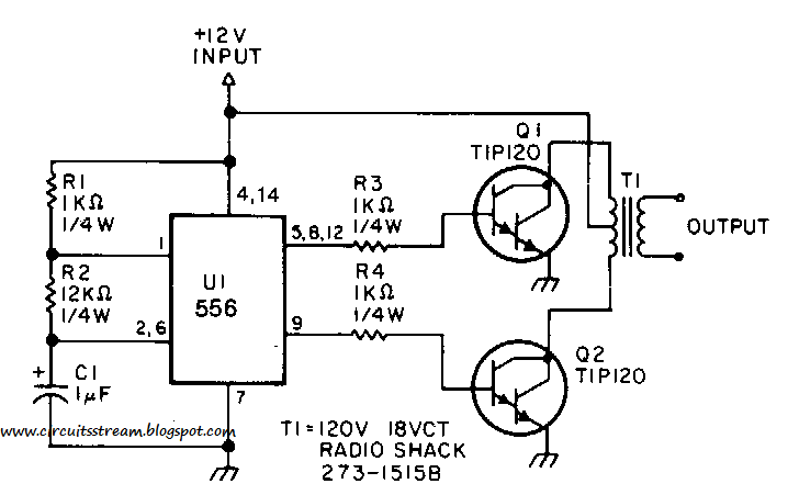 semi low power inverter circuit diagram