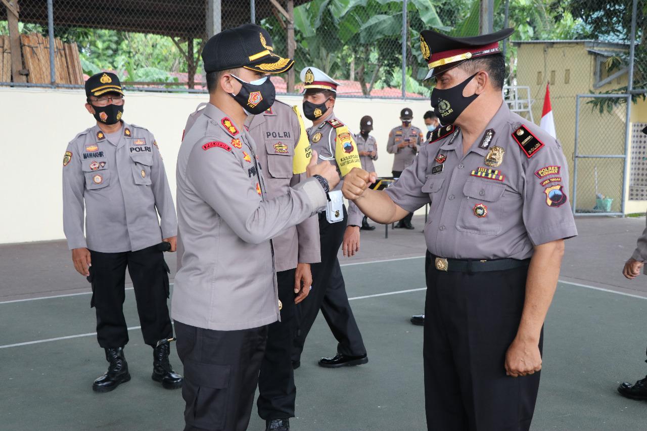 Tiga Bulan Jelang Purna, Dua Polisi di Kebumen Naik Pangkat jadi Ipda