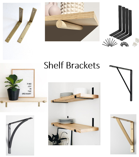 A round up of DIY shelf bracket options