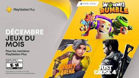 Les 3 jeux gratuits de décembre du PS+